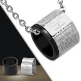 Colgante anillo 05 - cruz y texte