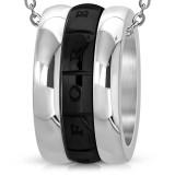 Colgante anillo 06 - banda negro love