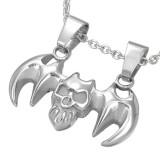 colgante gótico 01 - muerciélago y cráneo