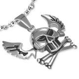 colgante gótico 05 - cabeza de la muerte con alas