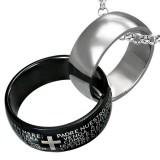 Colgante anillo 10 - Un gris y un negro