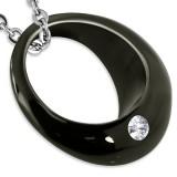 Colgante anillo 19 - negro averc zircona