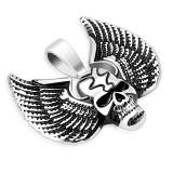 colgante gótico 36 - cráneo con alas