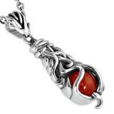colgante gótico 45 - Gem rojo luxueux