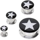 Plug en acero desatornillado logo estrella
