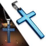 Colgante cruz 012 - azule latin