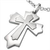 Colgante cruz 013 - Doble medieval