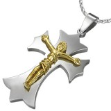 Colgante cruz 016 - Jesus amarillo