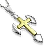 Colgante cruz 036 - Bordes arrondais