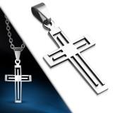 Colgante cruz 046 - sencillo hueco