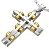 Colgante cruz 051 - cilindros amarillos