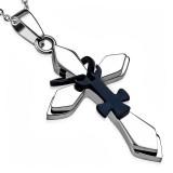 Colgante cruz 080 - motivo negro