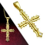 Colgante cruz 146 - lujo medieval gold-ip