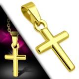 Colgante cruz 145 - pequeña gold-ip sencillo