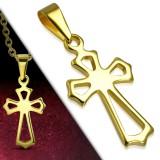Colgante cruz 144 - pequeña cruz gold-ip