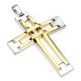 Colgante cruz 135 - dos líneas amarillos