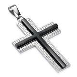 Colgante cruz 113 - líneas griego