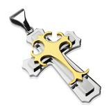 Colgante cruz 117 - central amarillo
