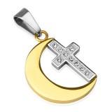 Colgante cruz 131 - luna amarillo