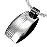 colgante acero 52 - placa negro y grise