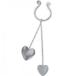 Falso-piercing de teton 11 - dos corazóns durantes