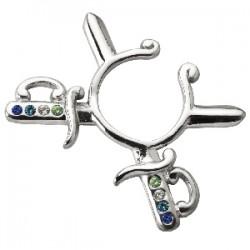 Faux-piercing pour téton 18 - espada