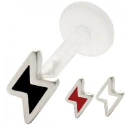 Piercing micro-labret PTFE 27 - relámpago