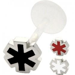 Piercing micro-labret PTFE 28 - estrella