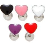Piercing lengua 63 - corazón enamel