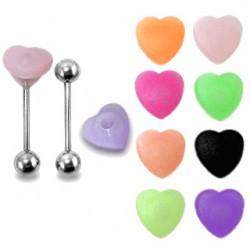 Piercing lengua desvergonzada 19 - silicona tickler corazón