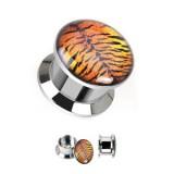 Plug en acero logo desatornillado tigre