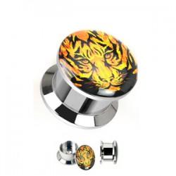 Plug en acero logo desatornillado tigre B