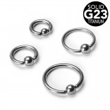 Piercing anillo 1,6mm 25 - titanio G23