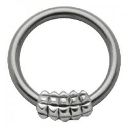 Piercing anillo 1,6mm 35 - cuadradas