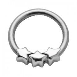 Piercing anillo 1,6mm 36 - tres estrella