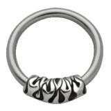 Piercing anillo 1,6mm 37 - llamas