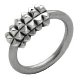 Piercing anillo 1,6mm 47 - cuadradas