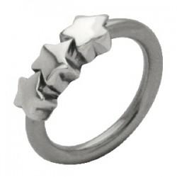 Piercing anillo 1,6mm 48 - tres estrella