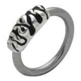 Piercing anillo 1,6mm 49 - llamas