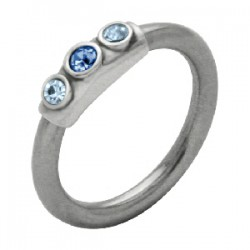 Piercing anillo 1,6mm 50 - tres strass