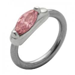 Piercing anillo 1,6mm 52 - zircona
