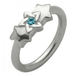 Piercing anillo 1,6mm 55 - estrella de David