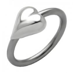 Piercing anillo 1,6mm 56 - corazón
