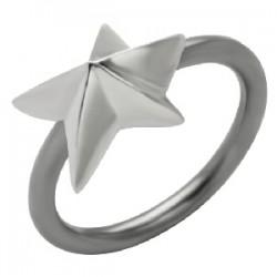 Piercing anillo 1,6mm 57 - estrella