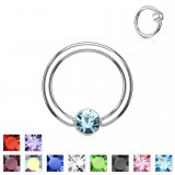 Piercing anillo 1,6mm 90 - Strass plato