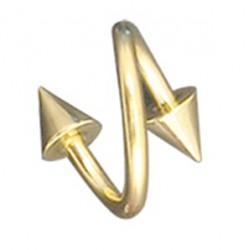 Piercing espirale 12 - chapado-oro Picos