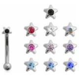 Piercing ceja 60 - estrella strass