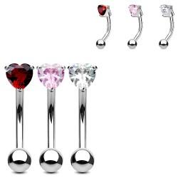 Piercing ceja 69 - Cristal corazón