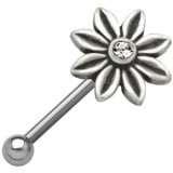 Piercing micro-barbell 50 - Flor