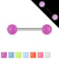 Piercing micro-barbell 27 - fluorescente Bolas